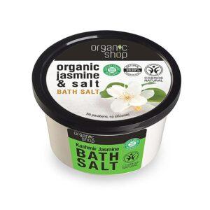 Organic Shop Bath salt Kashmir jasmine , Άλατα για το Μπάνιο Kashmir Jasmin