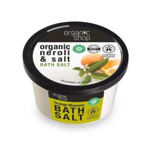 Organic Shop bath salt Orange Blossom , Άλατα για το Μπάνιο Άνθος Πορτοκαλίου