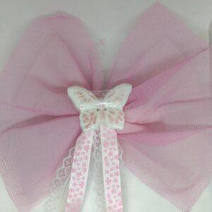 Μπομπονιέρα βάπτισης για κορίτσι πεταλούδα σαπούνι