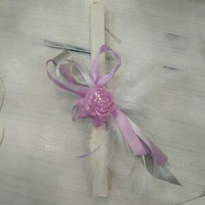πασχαλινή λαμπάδα τριαντάφυλλο από σαπούνι