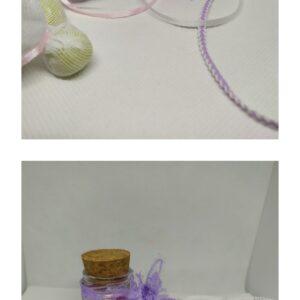 Μπομπονιέρα βαζάκι με αρωματικά σαπουνάκια καρδούλες