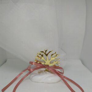 Μπομπονιέρα γάμου δέντρο της ζωής σε βότσαλο