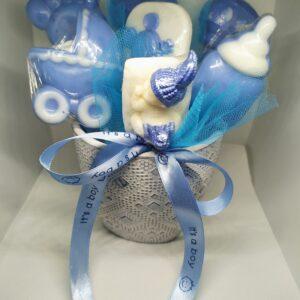 Σύνθεση δώρου για νεογέννητο με αρωματικά σαπουνάκια